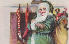 "Antique CHRISTMAS SANTA c.1908 GREEN SANTA SUIT WHITE FUR TRIM ARRIVING AT THE HOME OF SOME GOOD GIRLS AND BOYS Embossed Publisher I. M. OTTENHEIMER HOUSE OF POSTCARDS2 (UpNorth Memories - Donald (Don) Harrison) Tags: christmas santa jesus vintage antique postcard rppc ""don harrison"" ""upnorth memories"" upnorth memories upnorthmemories michigan history heritage travel tourism ""michigan roadside restaurants cafes motels hotels ""tourist stops"" ""travel trailer parks"" campgrounds cottages cabins ""roadside entertainment"" ""natural wonders"" attractions usa puremichigan "" ""railroad ferry"" ""car excursion"