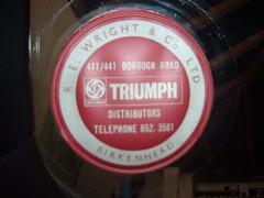 R E Wright & Co Ltd  tax disc holder - Birkenhead (vitessesteve) Tags: triumph triumphcardealer birkenhead rewrightcoltd