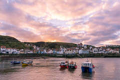 Fishing boats at sunset (phildigs89) Tags: nikon d7200 sigma 18250 northeast staithes fishingboats sunset harbour