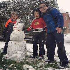 (Ryan Dickey) Tags: luke michael jacob snowman yard evanston snow december