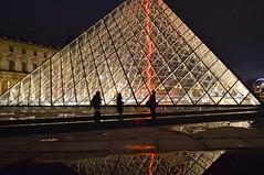 Silhouette (Anshul Roy) Tags: louvre europe eurotrip silhouette glass glasspyramid paris france reflection nikon d3200 nikond3200