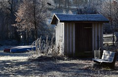 (:Linda:) Tags: germany thuringia village brden hoarfrost shack bench