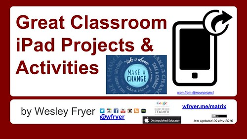 Great Classroom iPad Projects & Activiti by Wesley Fryer, on Flickr