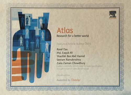 ATLAS Award by Elsevier