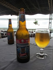Timisoreana beer, Restaurant Pe vapor, Danube riverboat, Gura Vii, Romania (Paul McClure DC) Tags: beer sign romania balkans danube drobetaturnuseverin guravii may2015