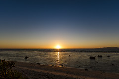 Sun Rising Over the Ocean Horizon in Bora Bora (Marcos Felipe T.D.) Tags: morning blue sunset sea summer sky sun sunlight beach nature water yellow landscape outdoors island dawn pol