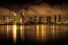 City at Night (quicklyslowly) Tags: longexposure cityscape nightscape fineartphotography sandiegoskyline sonya7