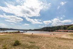 Playa de Cantabria (dBer~) Tags: ocean travel blue light sunset sea summer sky espaa sun seascape beach water beautiful clouds sunrise mar spain sand rocks playa cielo panoramica hdr cantabria comillas increible sanvicentedelabarquera cabarceno