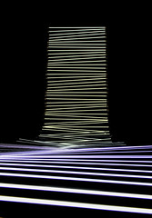 Wave Interference - Robyn Moody (Mat Che) Tags: scopitone stereolux nantes festival art arts interactif interactifs artistes artiste lumires nons danse bougent spots lumire reflets couleurs lignes blanche blanc interactive artist artists neon lights dance move light reflections colors white lines