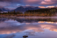 Autumn in the Canadian Rockies (chasingthelight10) Tags: travel mist canada photography landscapes events places things banffnationalpark canadianrockies vermilionlake