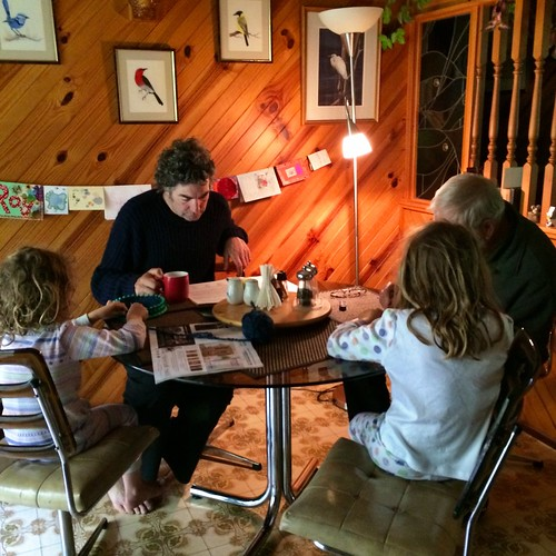 Weaving, reading, Sudoku & coffee...