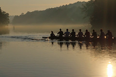 Misty Morning Row (sherri_lynn) Tags: sunrise chattahoocheeriver roswellga rowingteam