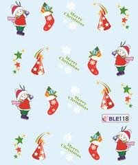 BLE118 (Jasmeet.k) Tags: santa christmas xmas tree art water nail slide musical decal transfer nailart bombastic