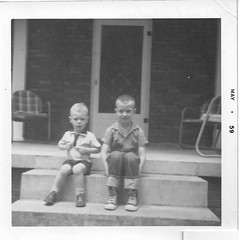 Mark and Hoyt (rfulton) Tags: blackandwhite boys kids vintage children backyard child tn murfreesboro boysandgirls vintagekids