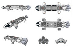 LEGO Eagle Transporter - LDVIEW (mattingly3900) Tags: lego eagle space 1999 alpha moonbase transporter