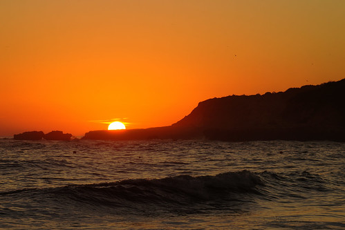 autumn sunset albufeira