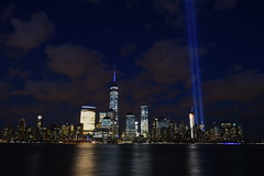 9-11 Tribute In Light 07 (Amaury Laporte) Tags: newyorkcity usa newyork unitedstates 911 landmarks northamerica tributeinlight memorials september11memorial