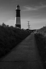 Spurn Point Light House_ (mhardie86) Tags: spurnpoint yorkshirewildlifetrust autumn sky path lighthouse blackwhite blackandwhite image imageoff leadinglines nikond610