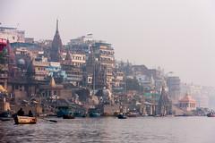 Cremation at Manikarnika Ghat, Varanasi (ghostwheel_in_shadow) Tags: india river death asia stair steps varanasi kashi ganges cremation banaras benares ghat uttarpradesh banares architecturalelement manikarnikaghat architectureandstructures