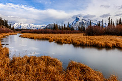 The Wetlands (jd_hiker) Tags: banffnationalpark reflections alberta landscape winter vermilionlake cities banff tunnelmountain subject canada seasons nationalparksofcanada places mountains