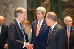 Secretary Kerry Awaits the Start of the UN Security Council  Meeting on Syria (U.S. Department of State) Tags: newyorkcity uk unitedkingdom un unitednations syria johnkerry unsc bankimoon philiphammond secretarykerry