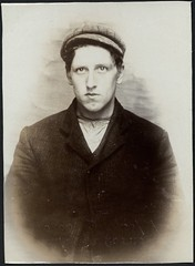 Benjamin Garrett, arrested for breaking and entering a tobacconist's shop (Tyne & Wear Archives & Museums) Tags: portrait interesting historic criminal crime cap thief mugshot cigars unusual cigarettes theft policestation arrested stealing prisoner northshields imprisoned tobacconist northtyneside bedfordstreet breakingandentering