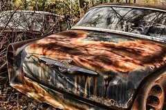 McLean's XXXIX (martinaschneider) Tags: old ontario fall abandoned car rust rockwood wreckers mcleans