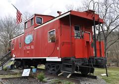 St. Paul, Virginia (6 of 6) (Bob McGilvray Jr.) Tags: railroad red train private virginia nw steel tracks stpaul caboose business va cupola norfolkwestern