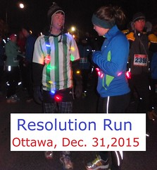 Who's running or walking the Resolution Run, December 31, 2015?