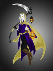 Ame's Update (Polux McLion) Tags: fantasy fantasycreature ghost roleplay roleplaycharacter lantern zelda scythe surrealista