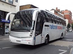 FJ13ECE (47604) Tags: nationalexpress caetano fj13ece kingsferry bus coach london victoria