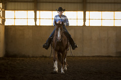Cowgirl (d.winborne) Tags: horse western trainer cowboy cowgirl barn animal