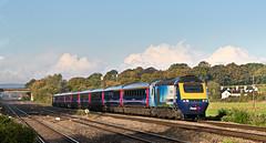 43163 43131 1L34 0758 Swansea - PAddington at Bishton Crossing Newport 15.10.2016 (The Cwmbran Creature.) Tags: british rail class railway train trains 43 hst