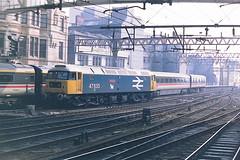 BRITISH RAIL 47635 JIMMY MILNE (bobbyblack51) Tags: british railways class 474 brush type 4 sulzer coco diesel locomotive 47635 jimmy milne glasgow central station 1987