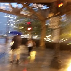 L Support (michael.veltman) Tags: walk in the rain l column blue umbrella man woman wacker drive chicago illinois