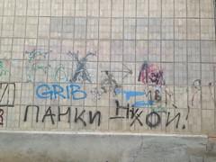 Панки Хой! (GrusiaKot) Tags: ucraina ukraine україна украина travelling autumn kharkiv kharkov wall muro saltovka punk