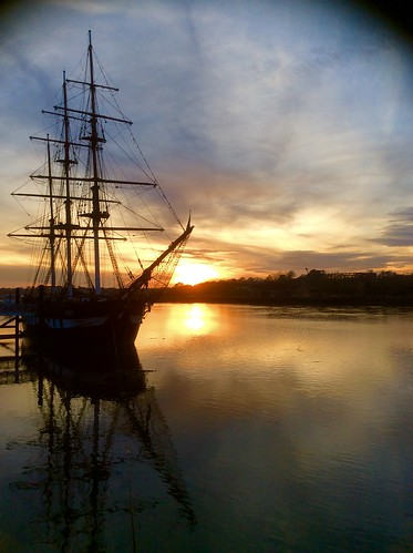 The SS Dunbrody emigrant ship (also known as 'the famine ship) ....