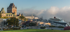 October morn (Dany_M) Tags: queen mary cruiseship cruise ship fog quebeccity quebec canada canon70d cunard bateau croisire brume landscape paysage architecture terrasse dufferin