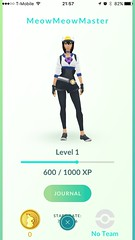 Pokémon GO (UX Examples (Mobile Games)) Tags: 2016 pokémongo niantic progress personalization