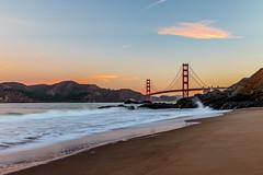 Golden Gate Bridge at dawn (Chris J Russell) Tags: landmark beach bridge goldengatebridge goldengate sanfrancisco california unitedstates us