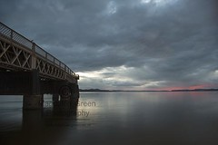Tay Rail Bridge -  Calm Tay View  - Frisson of Pink as the Sun Goes Down - Dundee Scotland (Magdalen Green Photography) Tags: tayrailbridge calmtayview frissonofpink pretty pink longexposure magdalengreenphotography asthesungoesdown rivertay dundee scotland scottishscenes dundeewestend 3780