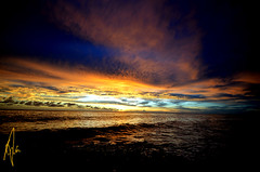 over the garden wall (Izzysan) Tags: dominica dominicaphotography dominicaphoto dominicaimage sunset sea seascapeandshoreline seascapes nikon nikondslr nphotomag nikonslrgroup nphoto lightstalking clouds cloudscapes