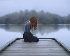Ceremony of Waiting (Patty Maher) Tags: dock fog water waiting painful conceptual