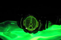 Radioactive (Quik Snapshot) Tags: radioactive green gshock closeup colorful casio color sony slta58 a58 alpha autofocus watch digitalwatch sal30m28 11ratio glow timepiece time stopwatch zero numbers illumination gd100sc1dr