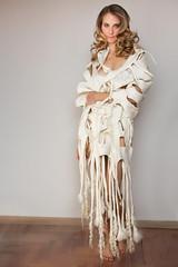 white fringe (ResPiri handmadefelt) Tags: moda accessories fashion wool sciarpa scarf xl eco felt felted alpaca accessori winter warm white wedding bridal bride soft long fur shawl