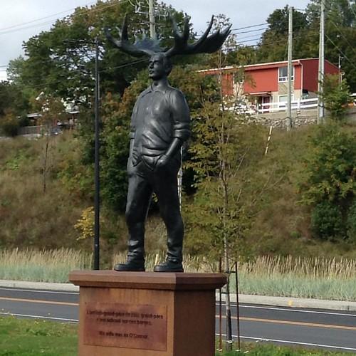 Statue in Gaspé