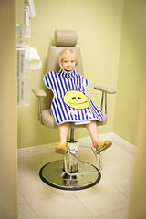 Alone in the chair (2ToneEng) Tags: dentist kid kids xray portrait cute anxious girl smileyface