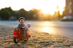 Rey and BB-8 sunrise riding (Ballou34) Tags: 2016 650d afol ballou34 canon eos eos650d flickr lego legographer legography minifigures photography rebelt4i stuckinplastic t4i toy toyphotography toys rebel stuck plastic hamburg sipgoeshamburg2016 star wars starwars rey bb8 sunrise bike scooter road ride