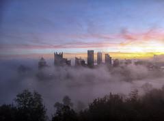 A City Rises From the Fog (Paul McCarthy...) Tags: scenicsnotjustlandscapes sonyhx300 teamsony pittsburgh fog visitpittsburgh mtwashington pittsburghviews tripadvisor acityrisesfromthefog flickrunitedaward