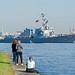 USS Jason Dunham & spectators